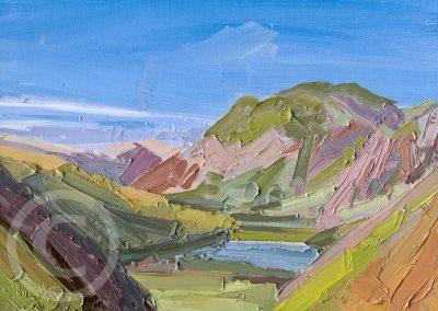 En Plein Air Painting Looking towards Patterdale by Chris Mcloughlin
