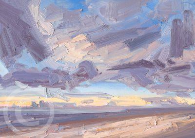 Painted En Plein Air A Winters Cloud Study by Chris Mcloughlin