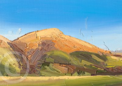 En Plein Air Landscape Painting of Blease Fell, from Latrigg, Lake District, UK by Chris Mcloughlin