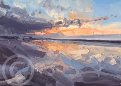 Painting about Reflections after a ThunderStorm by Chris Mcloughlin