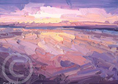 Sunset Study at Ainsdale Beach by Chris Mcloughlin